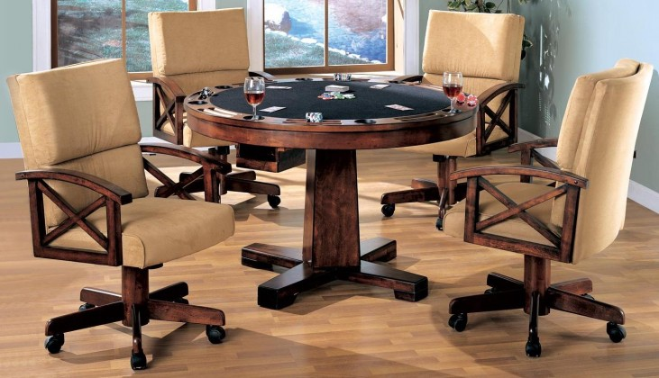 Marietta Black Convertible Dining Room Set