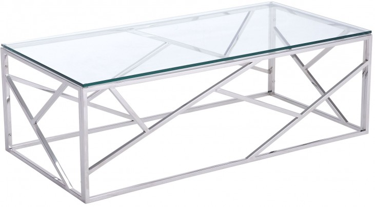 Cage Polished Stainless Steel Coffee Table