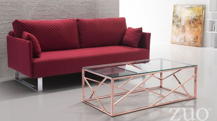 Cage Rose Gold Occasional Table Set