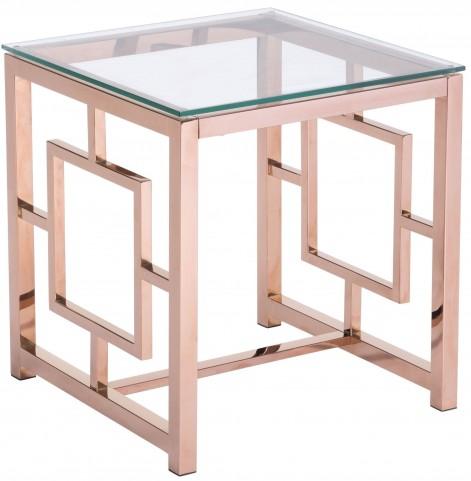 Geranium Rose Gold Side Table