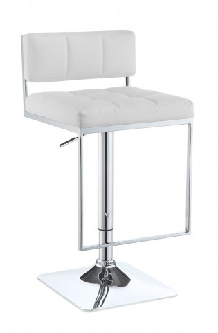 100193 White Adjustable Bar Stool