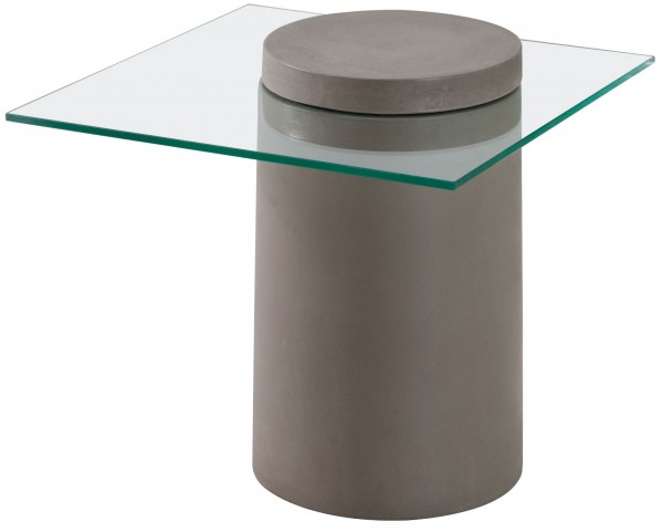 Monolith Cement Side Table