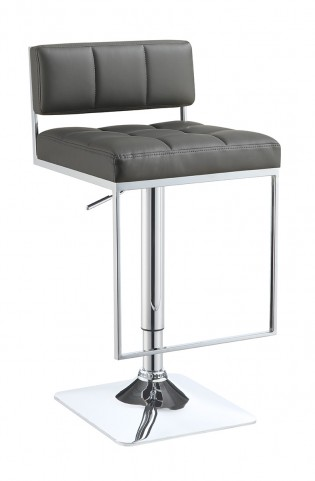 100195 Gray Adjustable Bar Stool