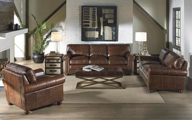 Genesis Coco Brompton Leather Living Room Set