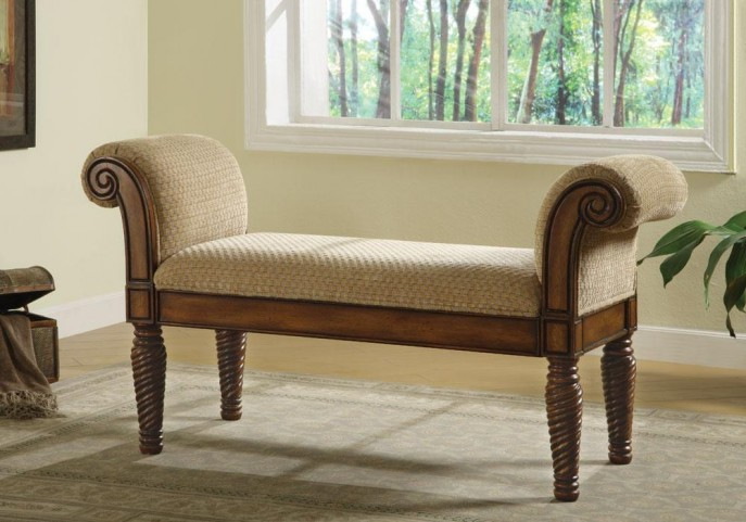 Stately Upholstered Bench 100224