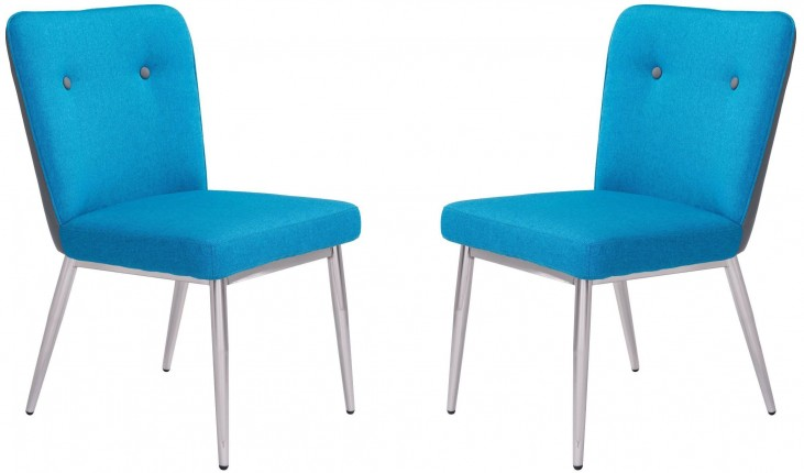 Hope Blue & Gray Dining Chair Set of 2