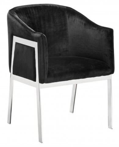 Rialto Black Fabric Armchair