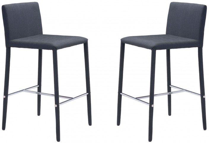 Confidence Black Counter Chair Set of 2