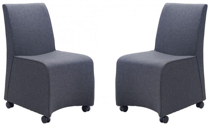 Whittle Dark Gray Dining Chair Set of 2