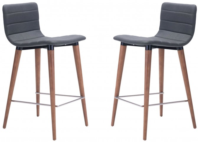 Jericho Gray Counter Chair Set of 2