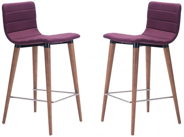 Jericho Purple Counter Chair Set of 2