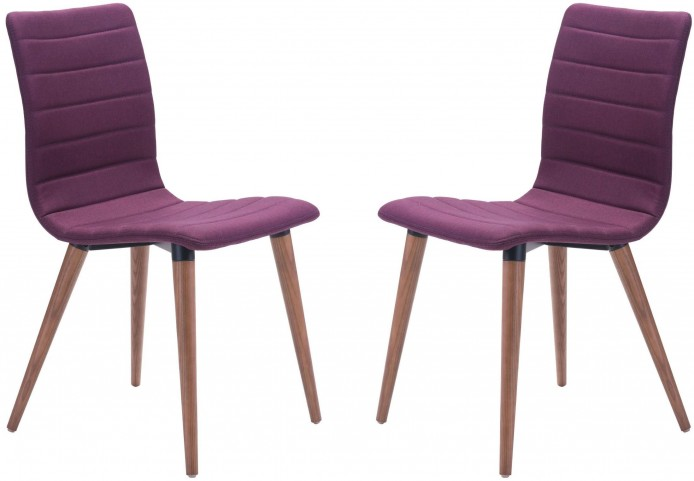 Jericho Purple Dining Chair Set of 2