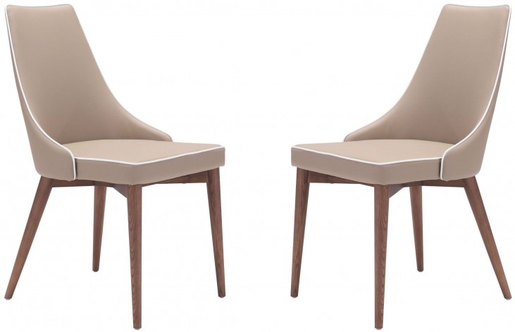 Moor Beige Dining Chair Set of 2