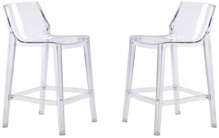Phantom Clear Bar Chair Set of 2