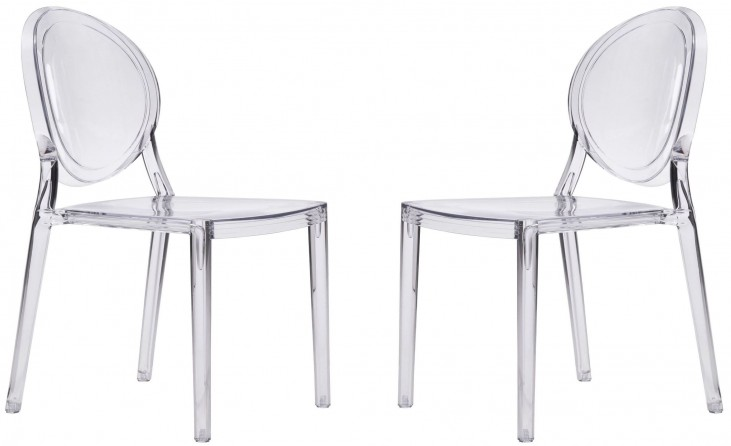 Specter Clear Stackable Dining Chair Set of 2
