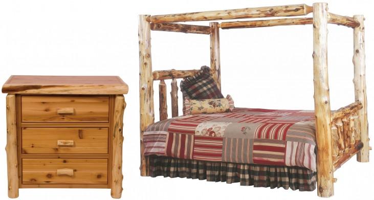 Traditional Cedar Canopy Bedroom Set