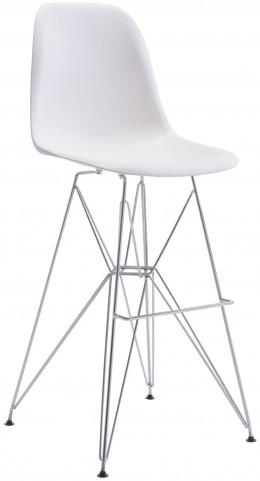 Zip White Bar Chair