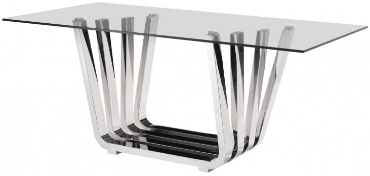 Fan Chrome Rectangular Dining Table