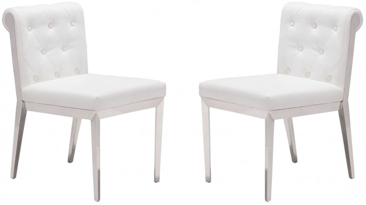Aris White Dining Chair Set of 2