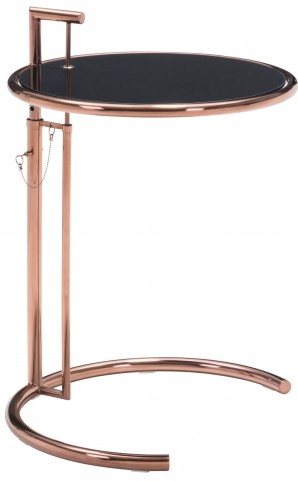 Eileen Grey Rose Gold Side Table