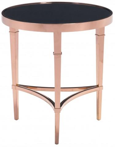 Elite Rose Gold & Black Side Table
