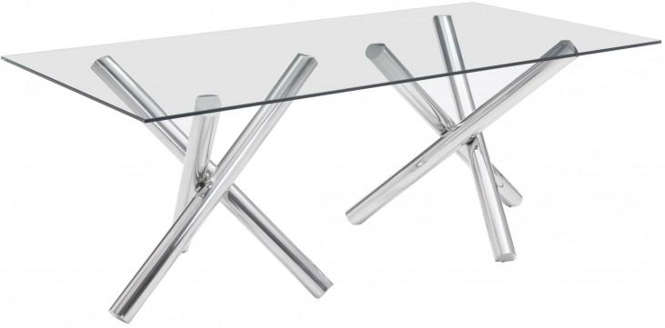 Stant Chrome Rectangular Dining Table