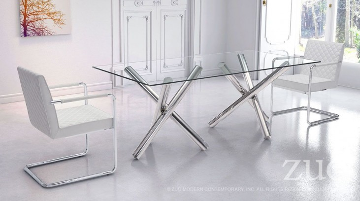 Stant Chrome Rectangular Dining Room Set