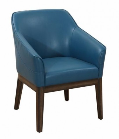 Dorian Turquoise Leather Armchair