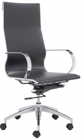 Glider Black High Back Office Chair