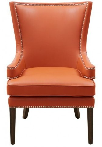 Rioja Orange And Stencil Orange Fabric Armchair