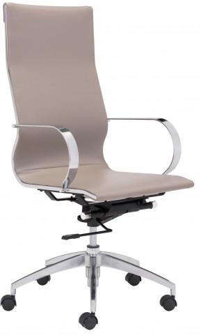 Glider Taupe High Back Office Chair