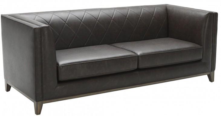 Salvatore Ash Grey Leather Sofa