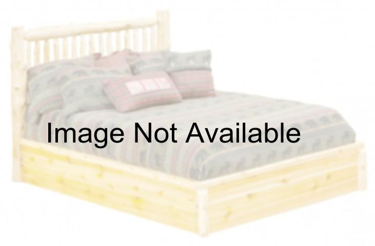 Vintage Cedar King Small Spindle Platform Bed