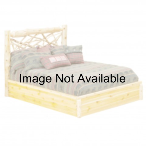 Vintage Cedar Full Twig Platform Bed