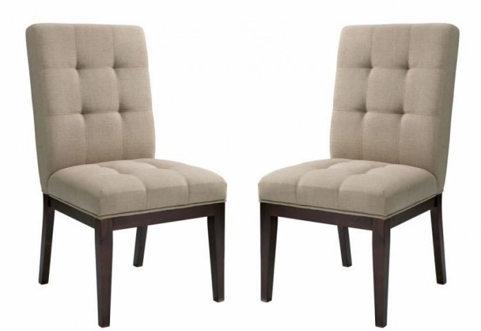 Diana Linen Brown Dining Chair Set of 2