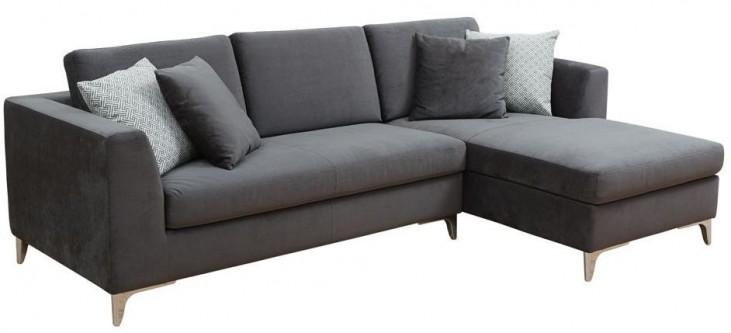 Virgilio Fossil Grey Fabric Sofa Chaise