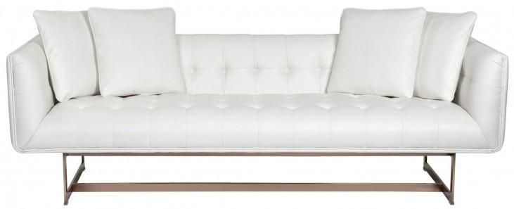 Matisse White Leather Sofa