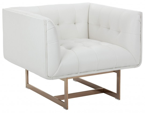 Matisse White Leather Armchair