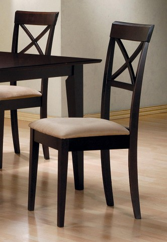 Mix & Match Cappuccino Cross Back Chair Set of 2