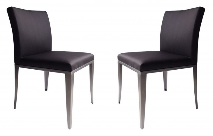 1008-DC Brown Dining Chair Set of 2