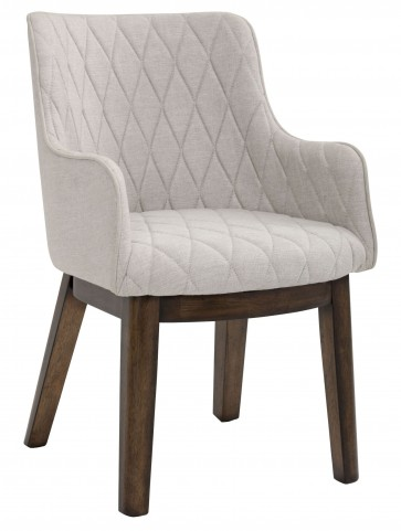 Avery Beige Linen Fabric Armchair