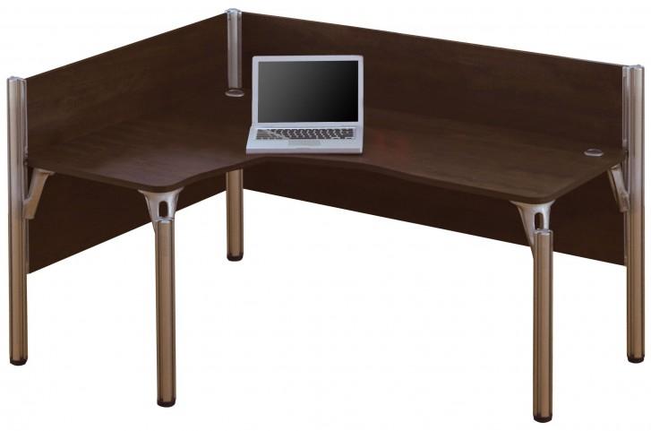 Pro-Biz Chocolate Left Single L-Desk