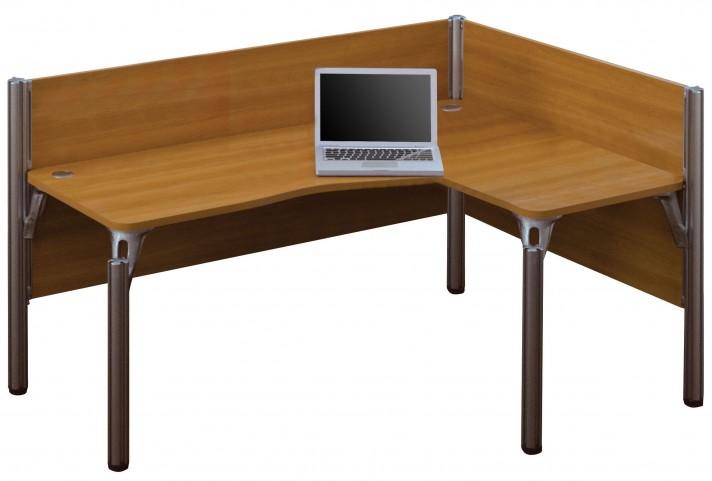 Pro-Biz Cappuccino Cherry Single Right L-Desk