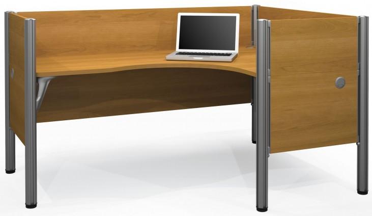 Pro-Biz Cappuccino Cherry Single Right L-Desk Workstation