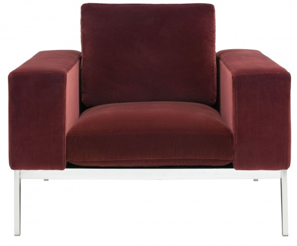 Adder Giotto Marsala Fabric Armchair