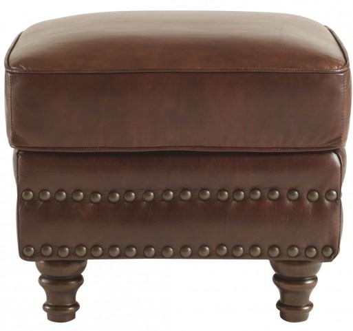 Bentley Rustic Sauvage Leather Ottoman