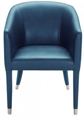 Marcus Turquoise Leather Armchair
