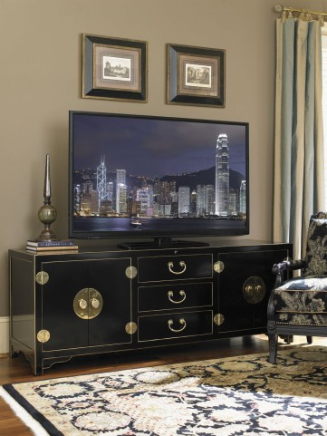 Studio Designs Black Pacific Isles TV Console
