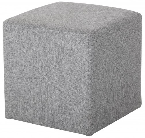 Jackson Light Grey Fabric Ottoman