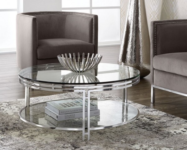 Andros Glass Top Occasional Table Set